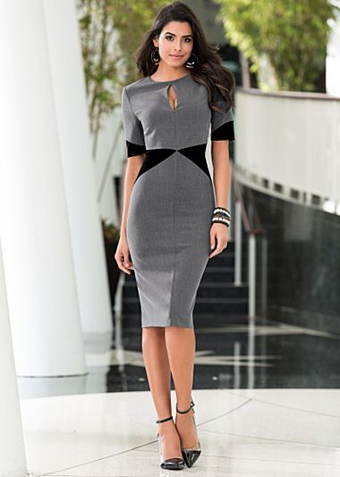 Color block dress-lovely and sophisticated. How a lady does work ...