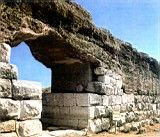 Muralla romana (Ampurias, Gerona) .Spain.