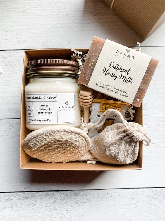 caja regalos sorpresa color blanco
