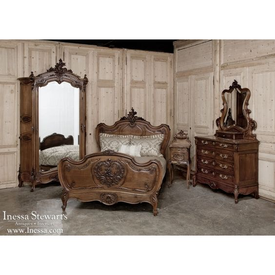 Antique bedroom furniture 19th century french rococo - French style bedroom furniture sets ...