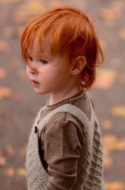 New Hair Red Boy Children Ideas