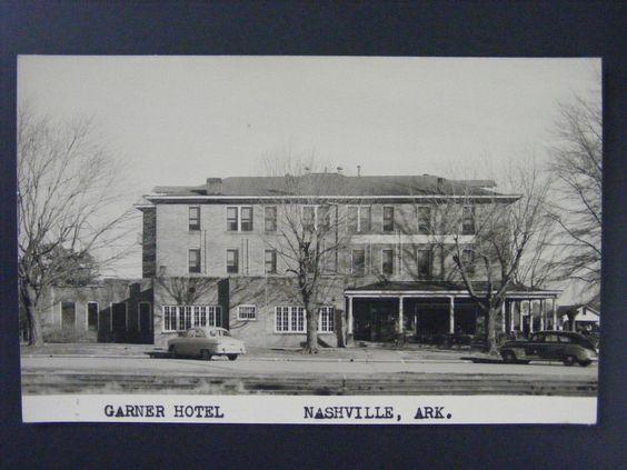 Nashville Arkansas Ar Garner Hotel Vintage Real Photo Postcard Rppc 1950s