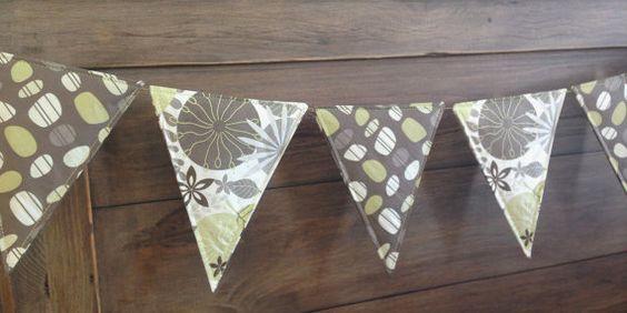 Handmade Garden theme paper bunting in zesty by SummerLimeDesigns