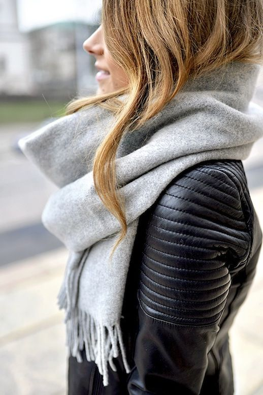 See This Blogger's Stylish Take On The Oversized Scarf: