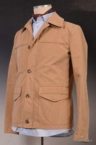 K. Punto Rosso by KITON Napoli Beige Safari Jacket EU 50 NEW US 38 40