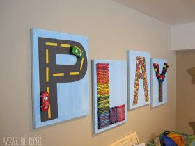 """Creative """"PLAY"""" Art for the Playroom - Average But Inspired"""