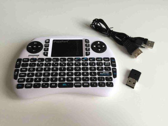 Meily 2.4GHz ミニ ワイヤレス キーボード Bluetoothキーボード 軽量 多機能ボタン タッチパッドを搭載 小型キーボードマウス USBレシーバー付き ホワイト