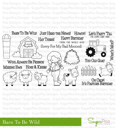 "Sugar Pea Designs ""Barn To Be Wild"" Clear Stamp Set *NEW*"