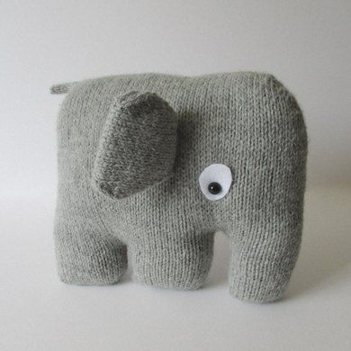 Who could resist a cuddle with this elephant cushion!THE PATTERN INCLUDES:Row numbers for each step so you don't lose your place, instructions for making the cushion, 11 photos to show certain steps and of the finished cushion, a list of abbreviations and explanation of some techniques, a materials list and recommended yarns. The pattern is 5 pages and written in English.  TECHNIQUES:All pieces are knitted flat (back and forth) on a pair of straight knitting needles, apart from the…