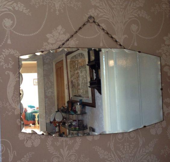Borde biselado vintage en forma de espejo Art por VintageByLouise