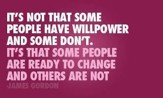 Willpower and change.