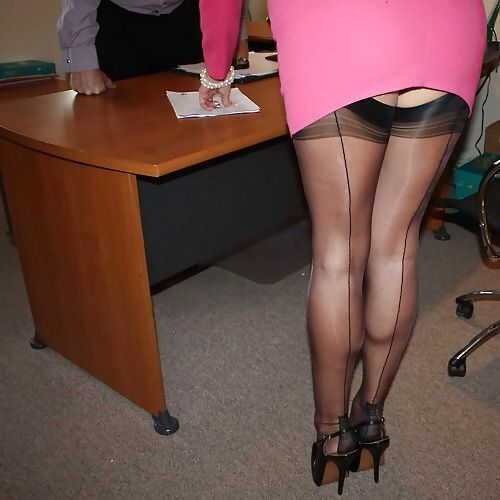 Stockings, Offices and Nylons on Pinterest