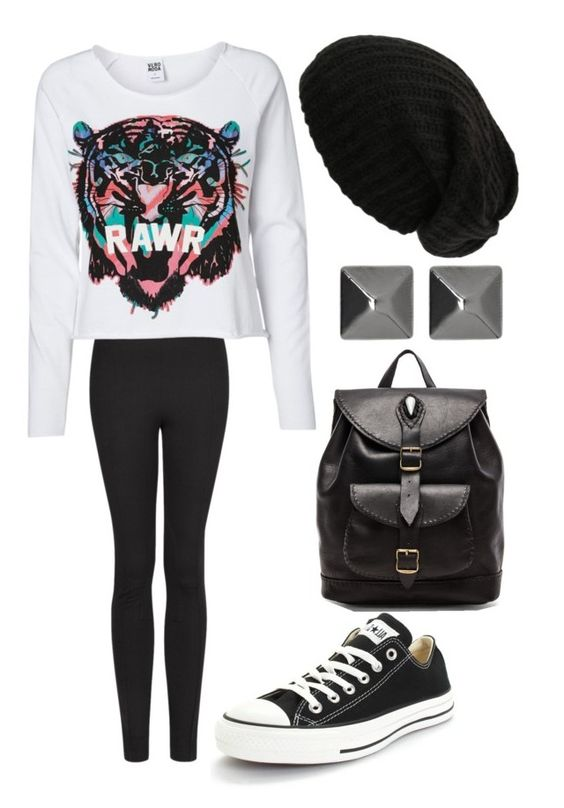 """""""Untitled #1111"""" by outfits-onedirection ❤ liked on Polyvore featuring moda, MANGO, Vero Moda, Converse, Stela 9, Witchery, women's clothing, women, female y woman"""
