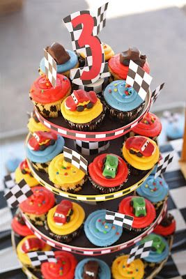 Cars 2 Birthday Cupcakes