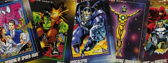 comic book trading cards...