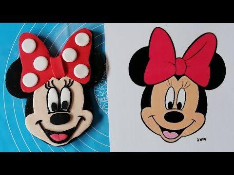 Minnie Mouse En Pate A Sucre عمل وجه ميني ماوس بعجينة السكر Youtube In 2021 Minnie Minnie Mouse Disney Characters