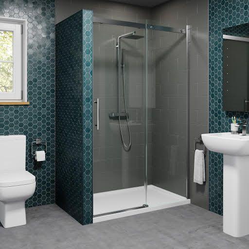 Diamond 1000mm Frameless Sliding Shower Door 8mm Glass In 2020 Frameless Sliding Shower Doors Shower Doors Frameless Shower Enclosures