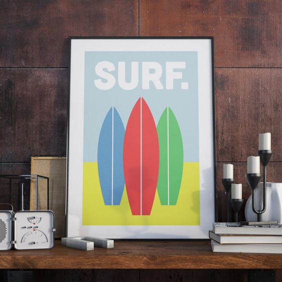 A3 Poster. Surf.