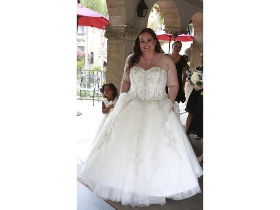 Strapless plus size wedding dresses like this beaded one can be made to order with any changes. We can customize one of our designs.  Or we can work from any picture you have as inspiration.  #Replicas of designer wedding dresses can also be made for less. Get pricing on custom plus size wedding dresses and replicas at www.DariusCordell.com/