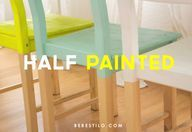 Sillas half painted