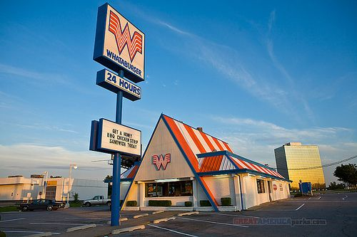 "Before we had a McDonalds we had a What-a-Burger in our town when I was little. I called it ""Water Burger"" because I thought that's what they were saying."