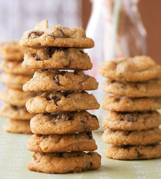 Peanut butter, banana, and chocolate make one amazing cookie. Recipe: www.bhg.com/recipe/cookies/peanut-butter-and-banana-drops/?socsrc=bhgpin091412pbbananadrops