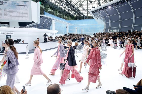 Chanel, spring summer 2016, Grand Palais, Paris. Chanel Airlines Aéroport Paris Cambon