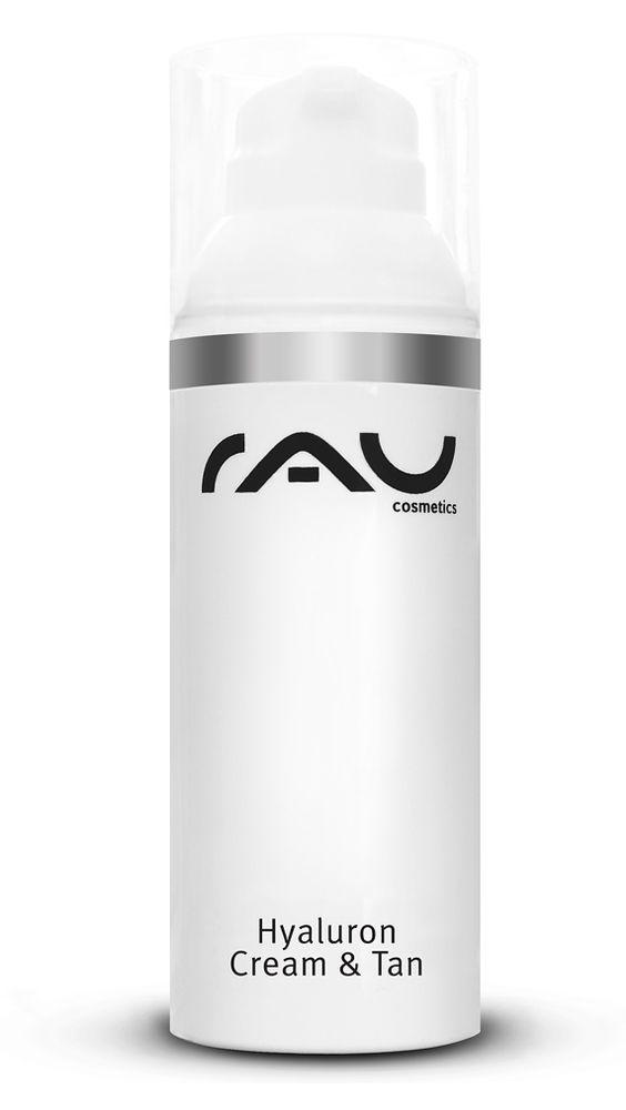 Das RAU Hyaluron Cream & Tan ist eine Hyaluronsäure Anti-Aging Creme mit Selbstbräuner. Hyaluronic Acid, Sorbitol und Avokado spenden Feuchtigkeit und können somit falten reduzieren. Zusätzlich ist eine Selbstbräuner-Wirkstoffkombination enthalten, die die Haut natürlich bräunt (Tanning). Natürlich ist auch dieses RAU Cosmetics Produkt OHNE Mineralöl, Farbstoffe PEG s und Parabene und enthält eine detaillierte Anleitung zur richtigen Anwendung.
