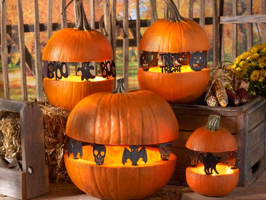 Looking to do something different with your pumpkin this year? Try using Pumpkin Pegs TM to create s