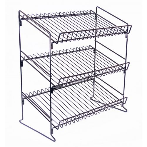 Three Tier Counter Top Wire Rack Cardboard Display Stand Pallet