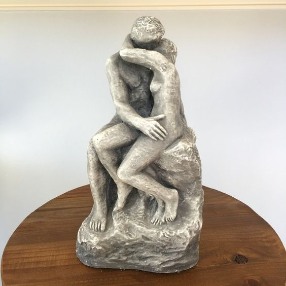 """Vintage Gray Ceramic Couple Sculpture Decor Purchased in the 70's. Good condition. Measures about 11.5"""" H x 5.5"""" W.  Comes from a smoke-free, but not pet-free home. ➡️ Offers welcomed.  No trades. No holds.  Fast shipping!  Saving up for my wedding, so considering all reasonable offers! Other"""