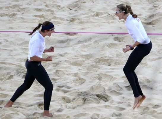 The dynamic beach volleyball duo of Kerri Walsh and Misty May-Treanor