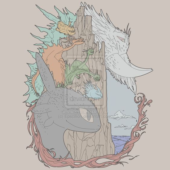 Ice and Fire, How to Train Your Dragon 2 T-Shirt by Epscillion.deviantart.com on @deviantART