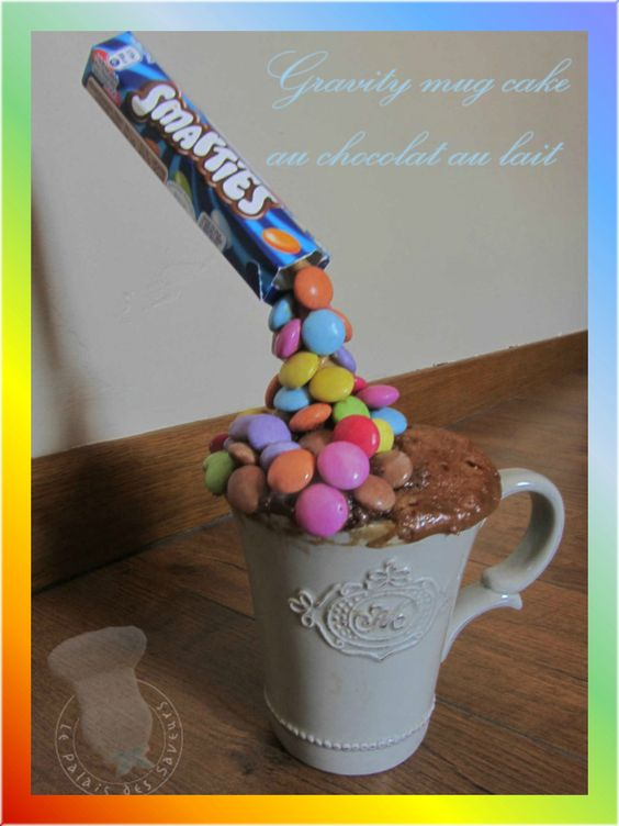 gravity mug cake au chocolat au lait au micro ondes mugcake pinterest mug cakes mugs et. Black Bedroom Furniture Sets. Home Design Ideas