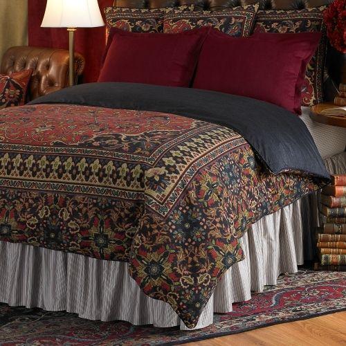 Retro Bedroom Chairs Persian Carpet Bedroom Blue Grey Bedroom Colour Scheme Bench Seat For Bedroom: Persian, Comforter And Ralph Lauren On Pinterest