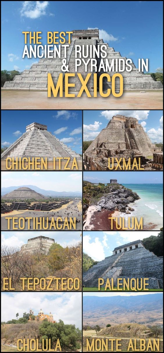 Heading to Mexico? Make sure to visit its amazing archaeological sites. Here is a list of some of the best ancient ruins and pyramids in Mexico.: