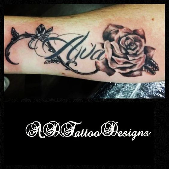 A non outlined rose and vine with healed writing to for Non ducor duco tattoos designs