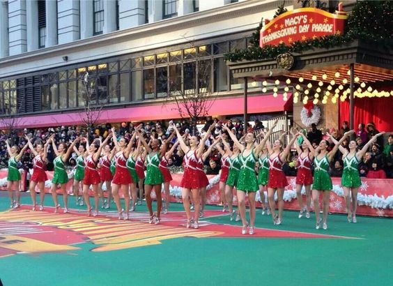 Rockettes' Thanksgiving parade.