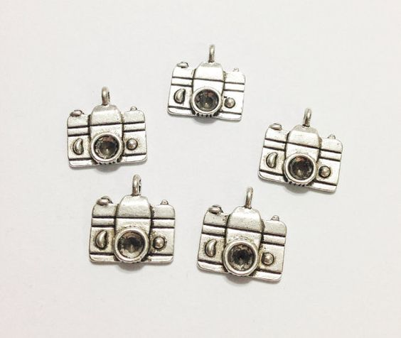 5 Pcs. Camera Charms, Camera Pendant, Photography Charms, Silver Antique Charms, Necklace Charms, Jewelry Charms, Vintage Accessories Photo on Etsy, $2.00