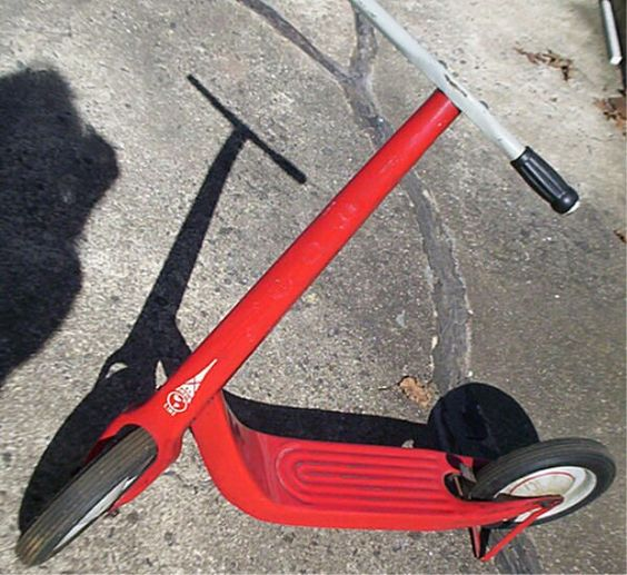 1950s red scooter