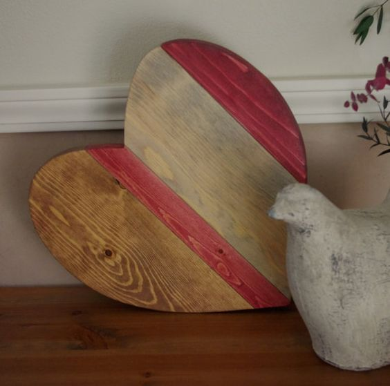 Valentine's Day Heart Signs  Wood Heart  Valentine by DJwoodcrafts