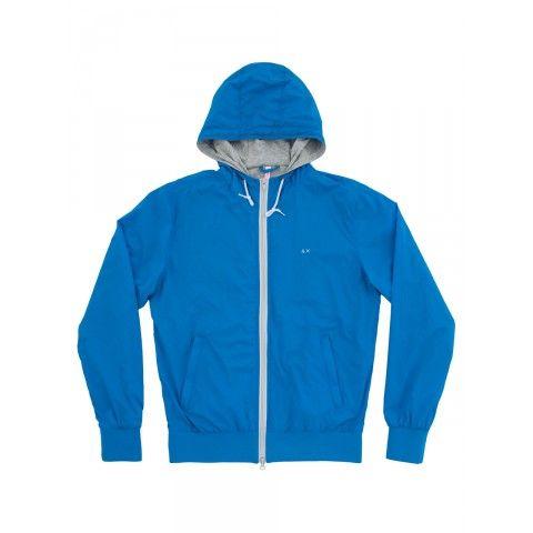 Roya blue rain-jacket SUN68 Man SS15 #rainjacket #SUN68 #SS15 ...