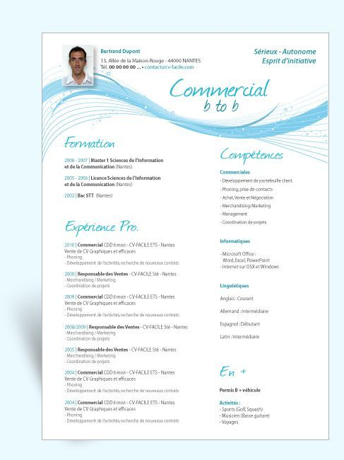 Telecharger Exemple Cv Original Commercial Good Cv Resume Design Professional Resume Design