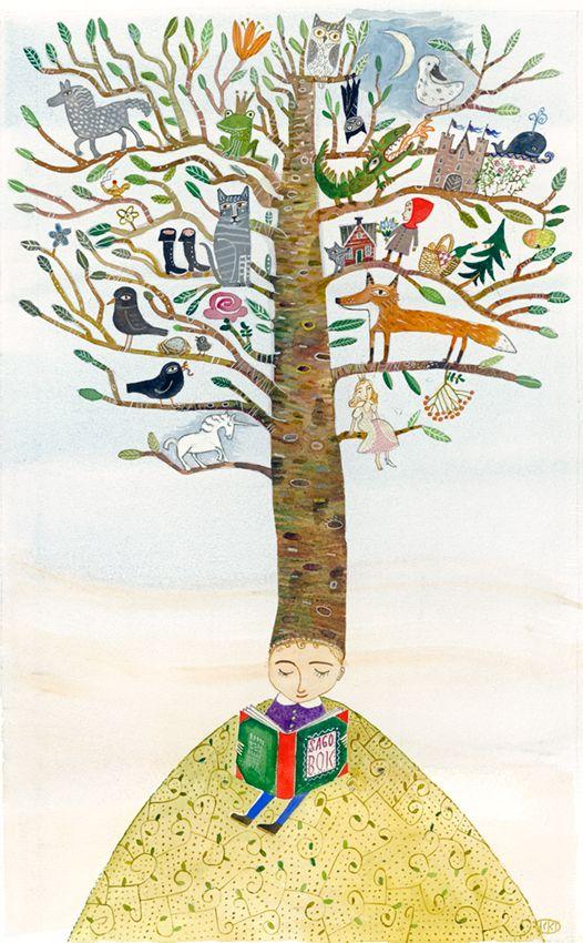 ilustração de Kristina Digman Rådhusets Julkalender 2012: