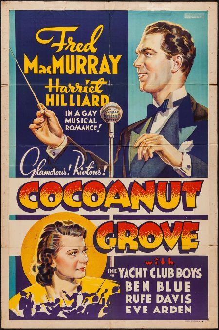 "Movie Posters:Comedy, Cocoanut Grove (Paramount, 1938). Other Company One Sheet (27"" X41""). Comedy.. ... Image #1"