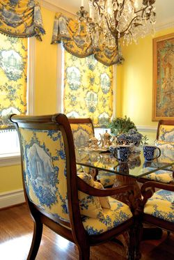 Yellow And Blue French Country Dining Room From St Louis