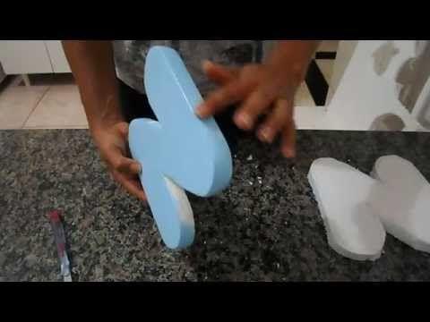 letras 3D de isopor - YouTube