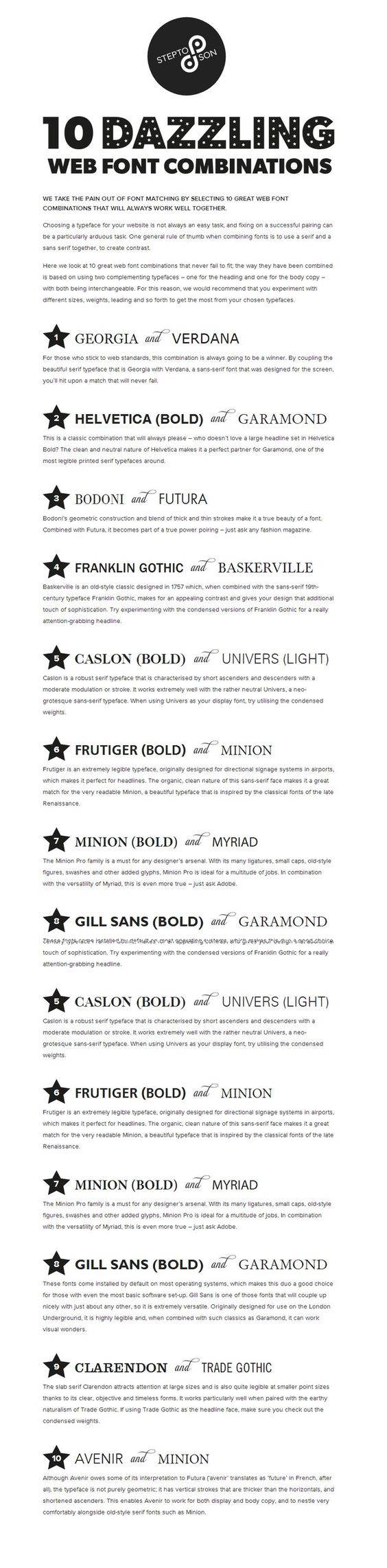 10 great web font combinations for your resume resume