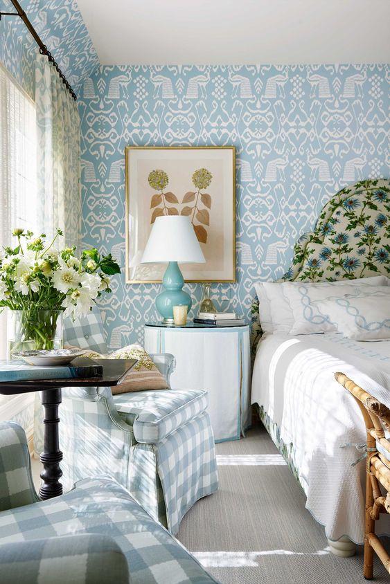 Trendy Colorful Bedroom