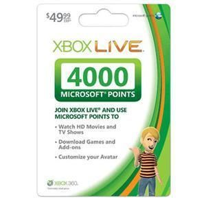 New Microsoft Points Card (4000 Points)